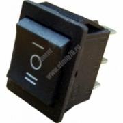 YL-206 Переключатель клавишный черный на 3 положения 2з+2з TDM SQ0703-0017
