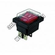 YL-208-01 Переключатель клавишный красная клавиша (влагозащищенная) 2 положения 2з ТДМ SQ0703-0018