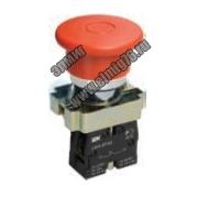 Кнопка аварийная с фиксацией LAY5-BS542 Гриб 240В IEK