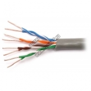 UTP Кабель витая пара, категория 5е, 4пары, PVC, 24AWG, NETLAN EC-UU004-5E-PVC-GY