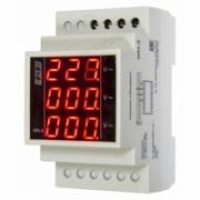 WN-3, Указатель напряжения трехфазный, 100-300В, цифровая индикация, монтаж на DIN-рейке 35мм ЕВРОАВТОМАТИКА