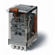7A 4CO 220V AgNi Реле миниатюрное универсальное монтаж в розетку контакты блокируемая кнопка Тест+индикатор 55348230004 FINDER