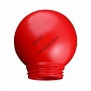 Рассеиватель матовый пластик красный d 150 mm антивандальный