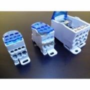 Распред.блок на DIN-рейку  РБ-160 1П 160А (1х70+1х16/6х16)