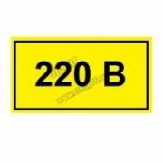 """Символ """"220В"""" 15х50мм TDM"""