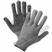 Перчатки трикотажные 10/5 х/б с ПВХ (волна) Профи,Повезет