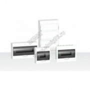 EZ9E108S2SRU  Щит распределительный навесной белый дверь прозрачная на 8 модулей IP40 Easy9