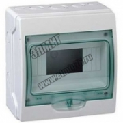 13977 Щит ЩРн-П-6 распределительный навесной пластиковый белый прозрачная дверь IP65 Kaedra