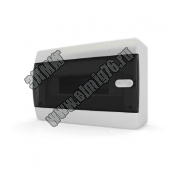 Бокс ЩРН-П-12 IP41 прозрачная черная дверца CNK40-12-1 Tekfor ЩРНП белая ручка