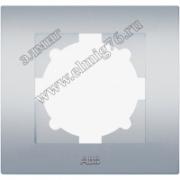 Рамка 1 постовая ABB Cosmo алюминий 612-011000-271