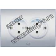 Розетка с заземлением двойная алюминий Cosmo 632-011000-907