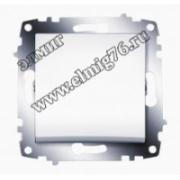 Выключатель 1-клавишный белый Cosmo 619-010200-200