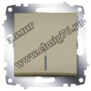 Выключатель одноклавишный с подсветкой титаниум Cosmo 619-011400-201