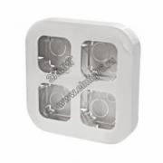 782294 Рамка 4 поста для наружного монтажа белая Quteo
