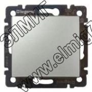770101 Выключатель одноклавишный Алюминий VALENA