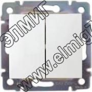 774405 Выключатель 2кл в рамку бел.VALENA (694265)