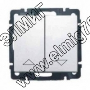 774414 Выключатель жалюзи кнопоч. электрич/блок в рам. белый VALENA