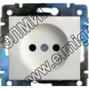 774416 Розетка x1 в рамку (белый) VALENA