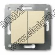 774305 Выключатель 2кл в рамку сл.к.VALENA (695605)