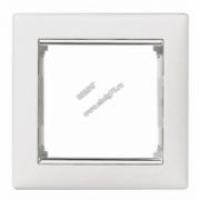 770491 Рамка х1 (Белый/серебро) VALENA