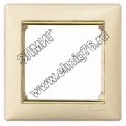 774151 Рамка х1 VALENA (Сл.кость/золотой)