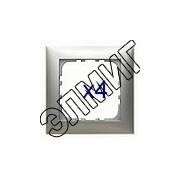 864403 Рамка 4-пост.сереб.металлик LK60
