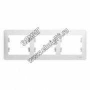 GSL000103 Рамка 3-местная Schneider Electric GLOSSA  горизонтальная белый