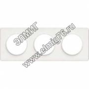 S52P806 Рамка 3 поста белая ODACE