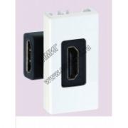 K129B-9 Разъём HDMI 22,5х45мм Белый Simon Connect