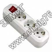 Makel колодка удлинителя 3 гн с выключателем MGP211